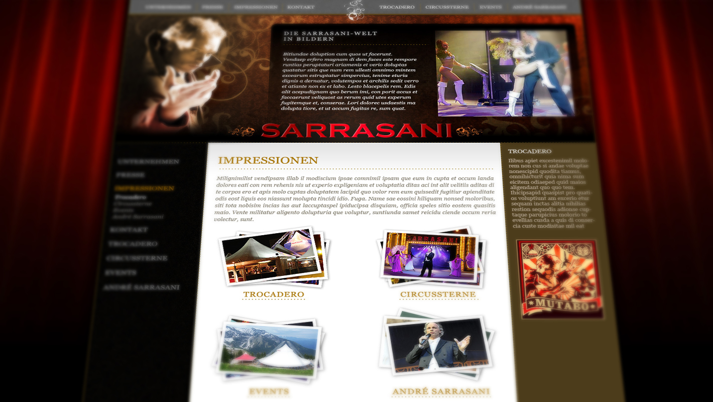 Sarrasani Website