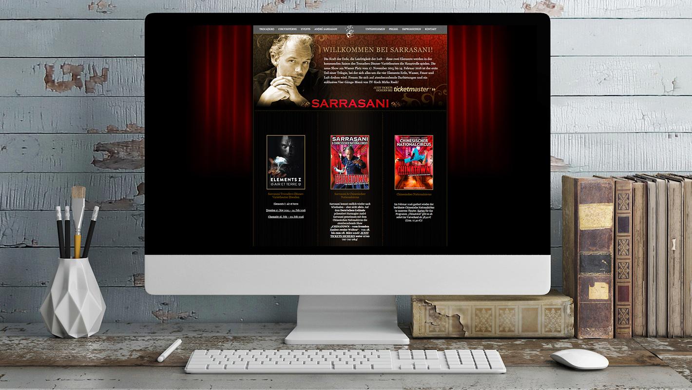 Sarrasani Website Startseite