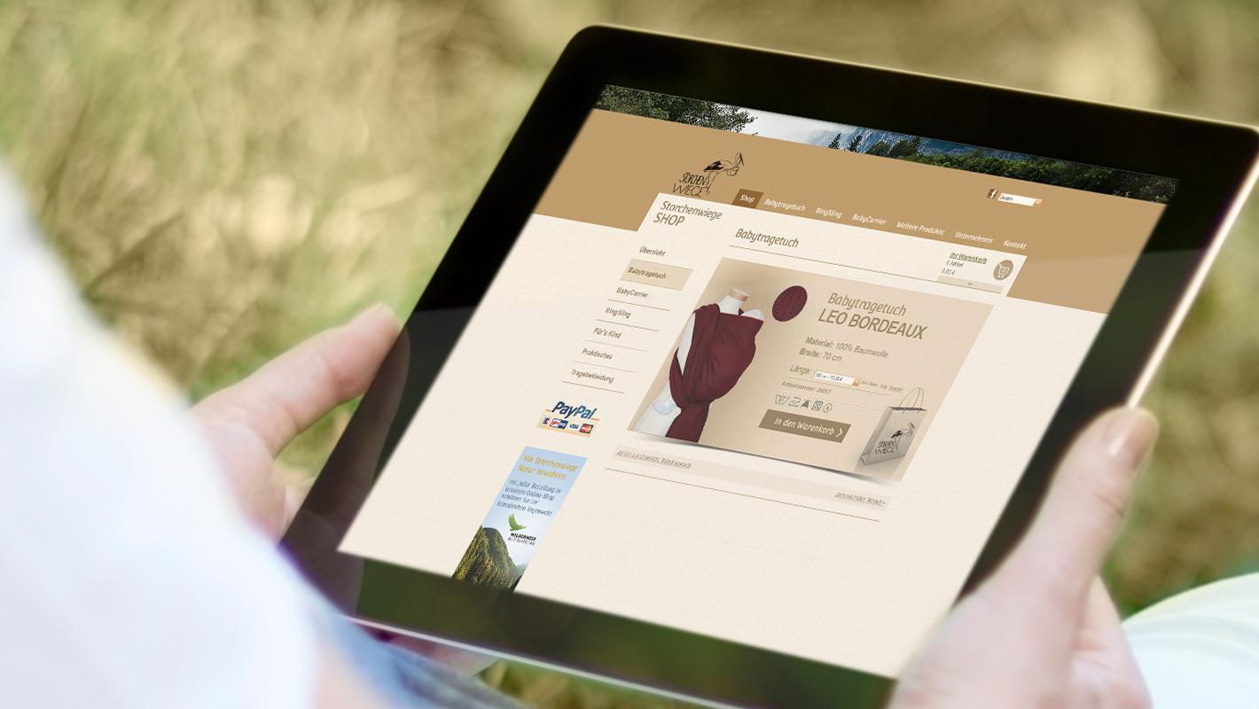 Onlineshop Storchenwiege