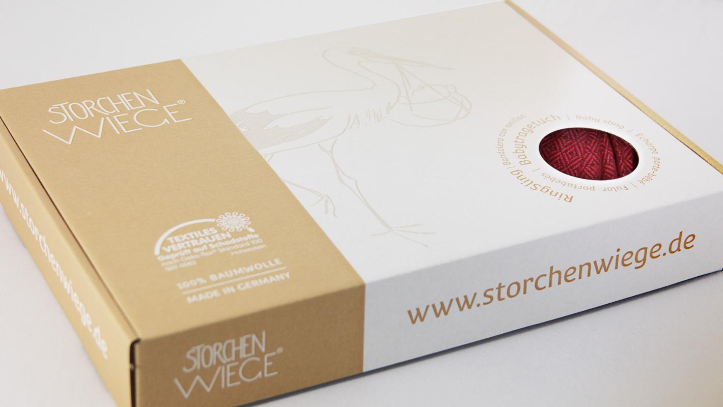 Design Verpackung Storchenwiege