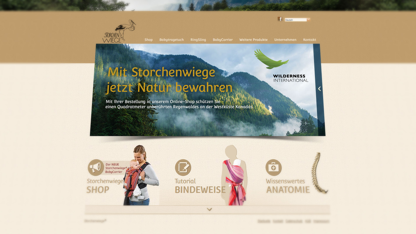 Website Storchenwiege