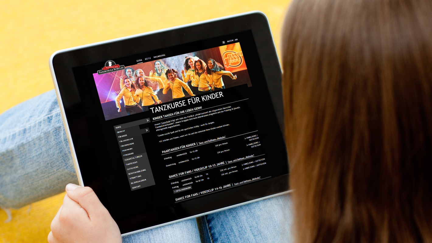 Tanzschule Schulze Website