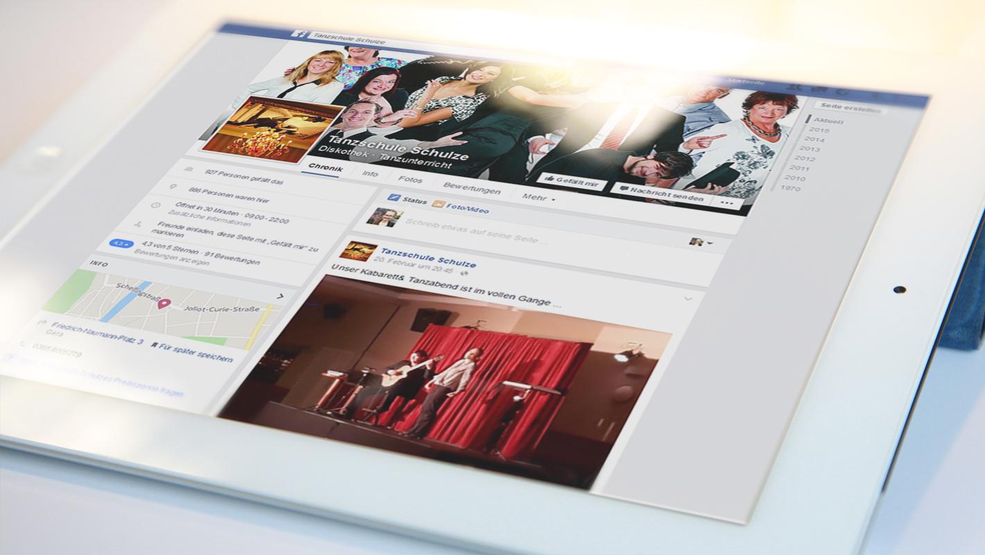 Tanzschule Schulze Website Facebook Socialmedia