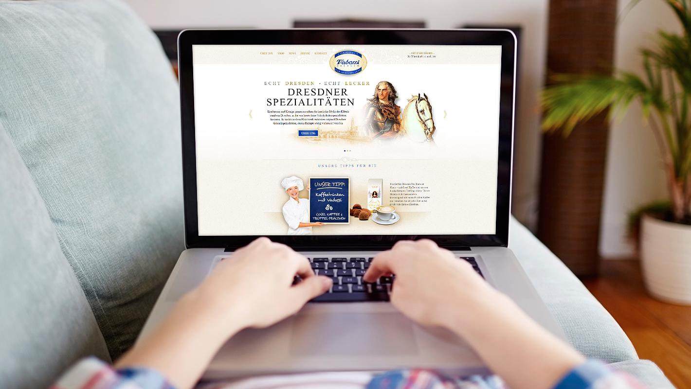 Vadossi Website Responsive Startseite