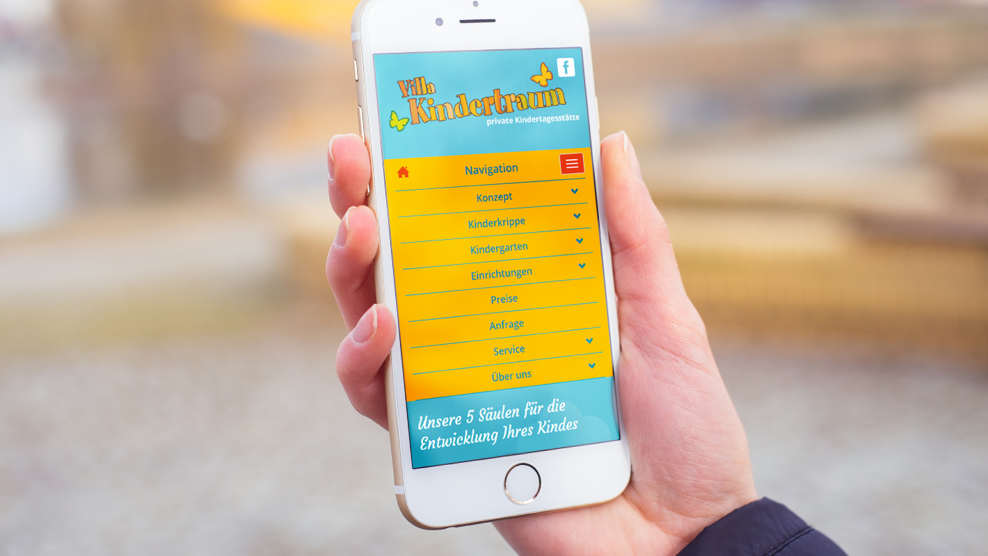Mobile Website Villa Kindertraum