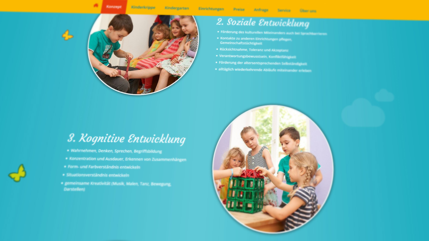Responsive Website Villa Kindertraum