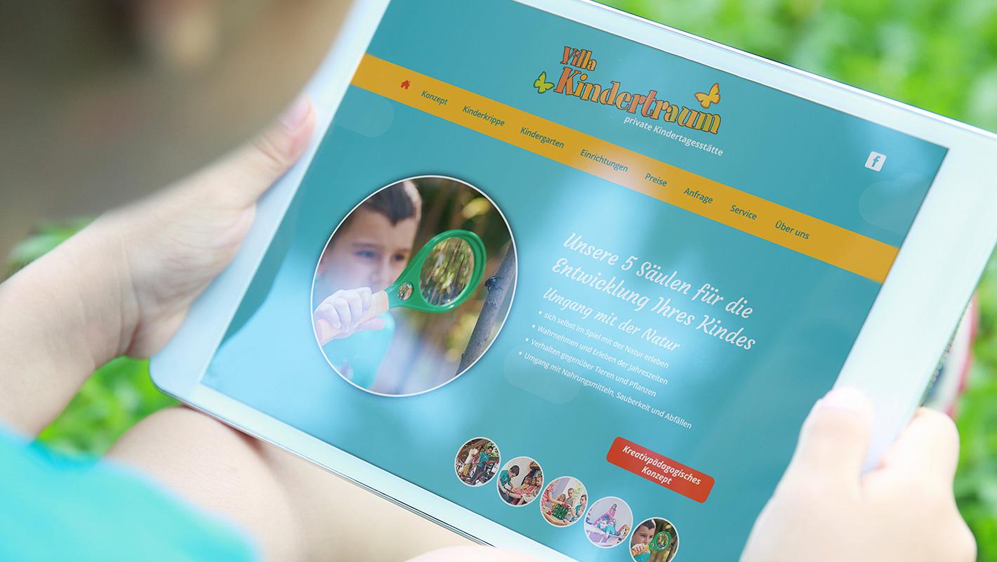 Responsive Webdesign Villa Kindertraum