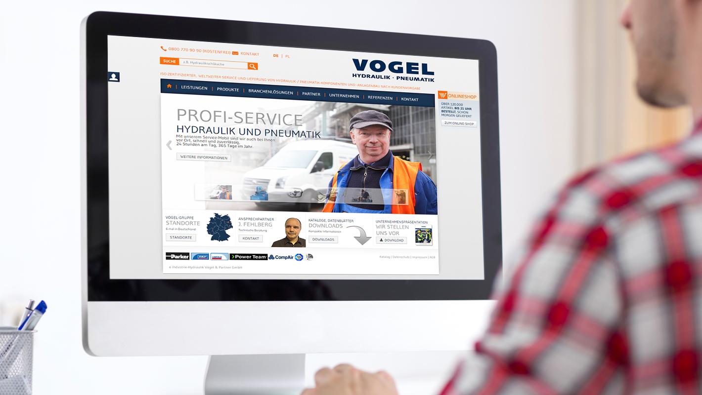 Vogel Gruppe Website Startseite