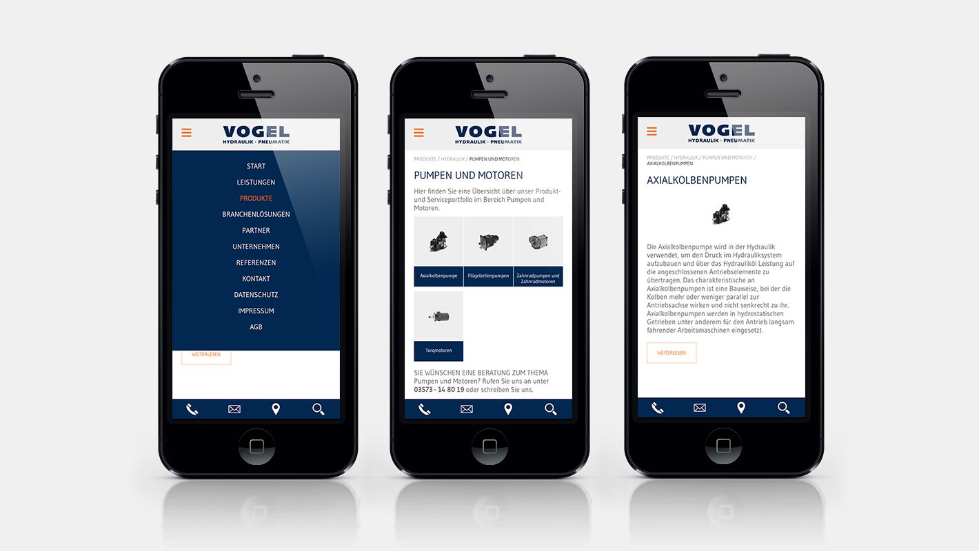 Vogel Gruppe Website mobil Smartphone