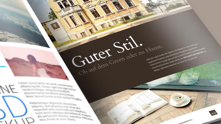Print Broschüre Dresdner Wohnweise