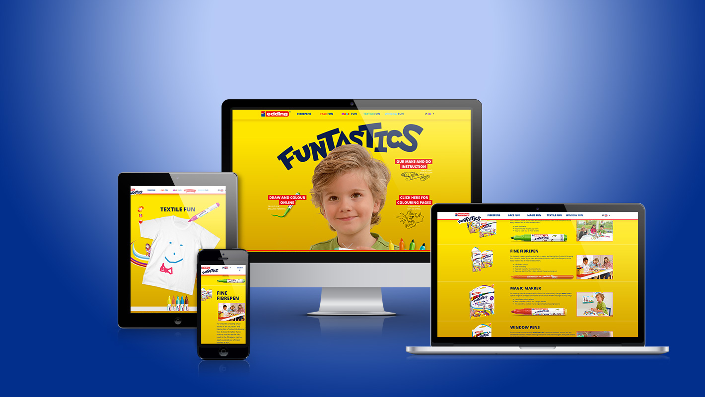 Responsive Webdesign edding funtastics