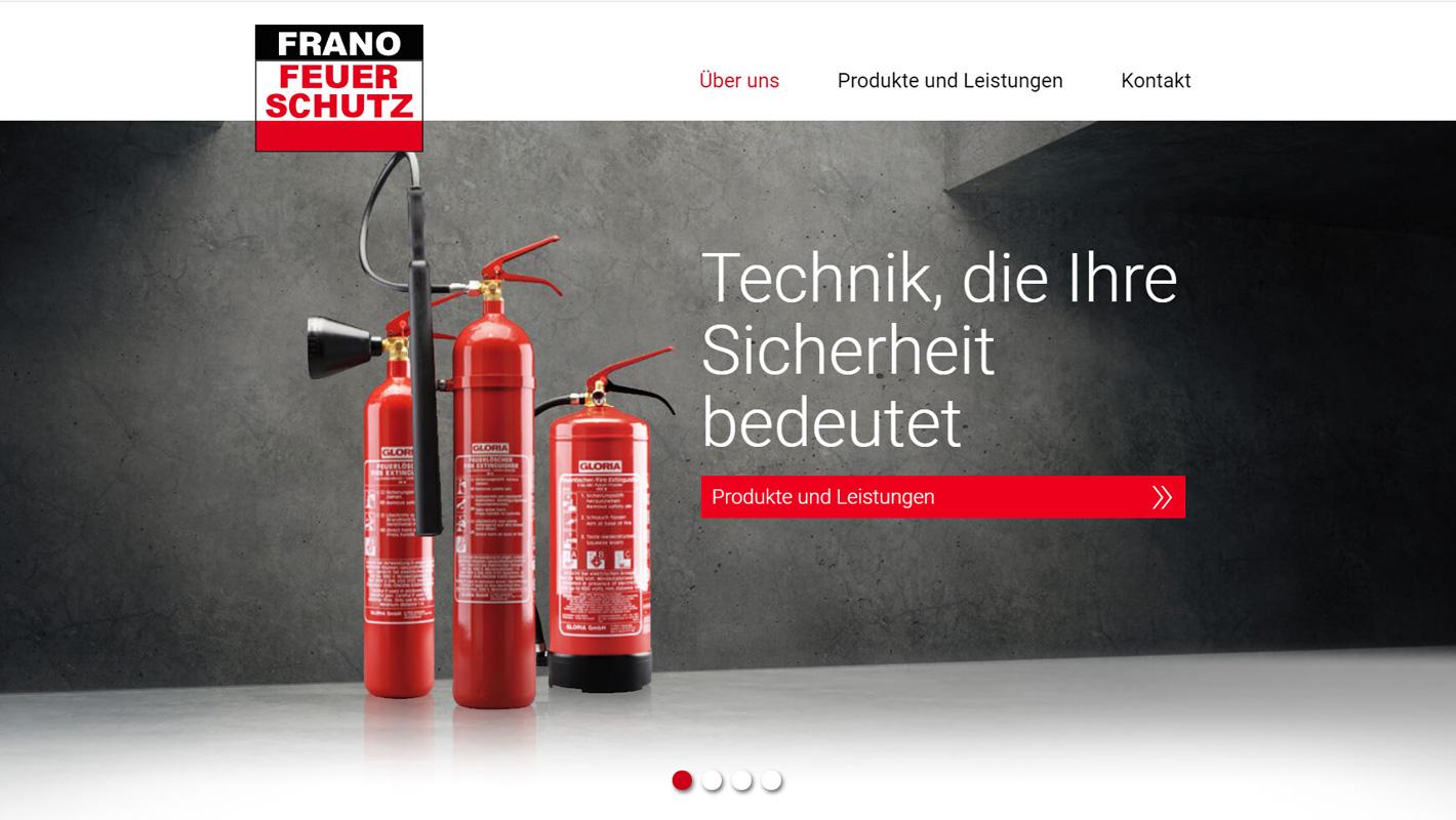 Webdesign und Website Frano Feuerschutz