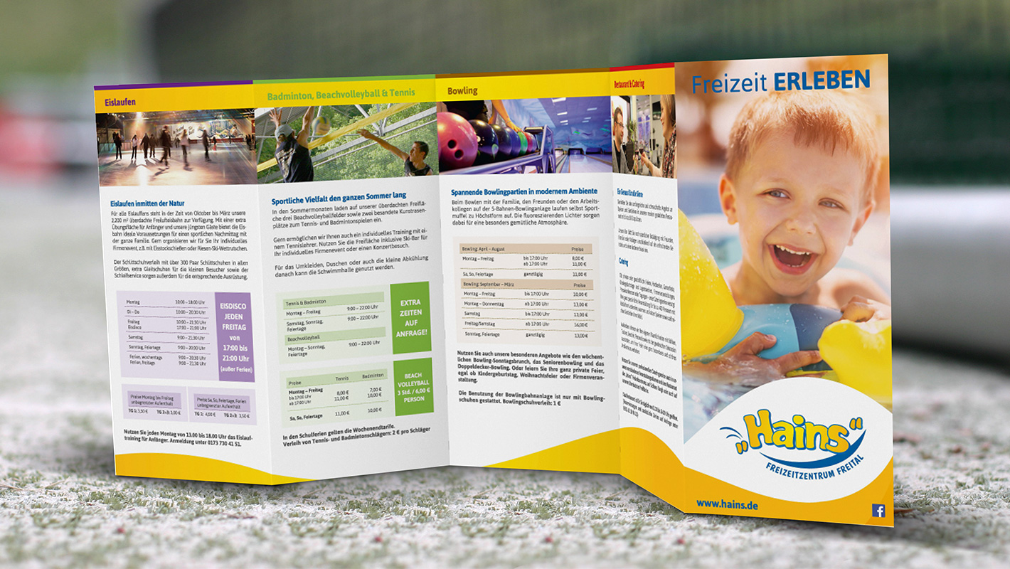 Corporate Design Flyer Hains Freital