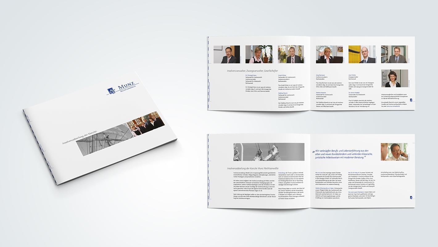 Broschüre Print Munz Rechtsanwälte
