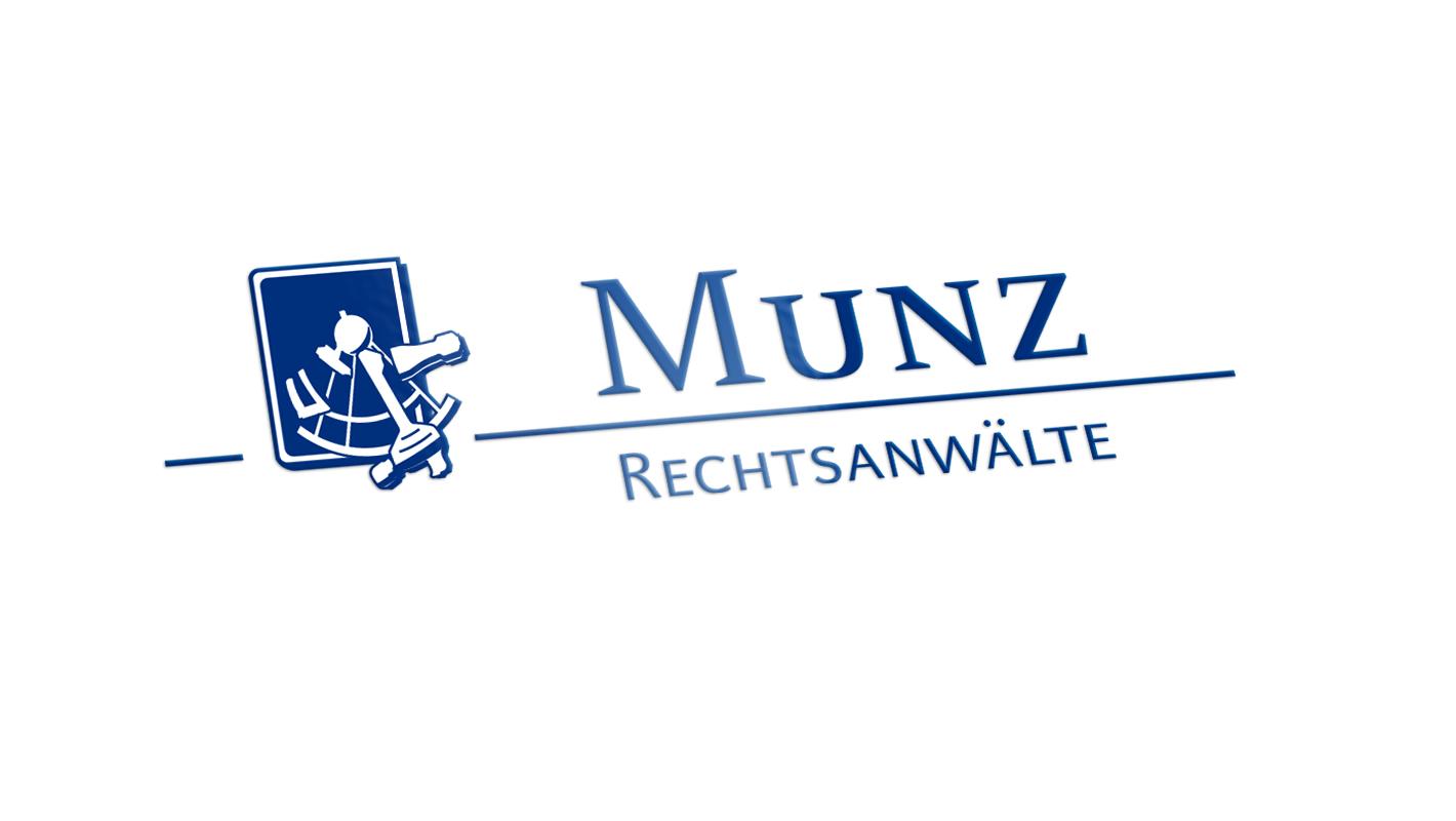 Corporate Design Logo Munz Rechtsanwälte