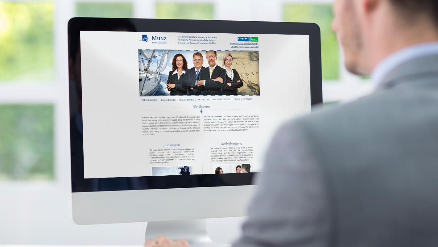 Website Munz Rechtsanwälte