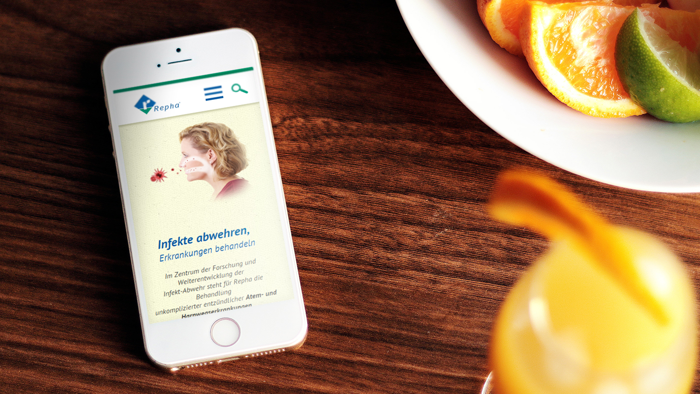 Mobile Website Smartphone Repha