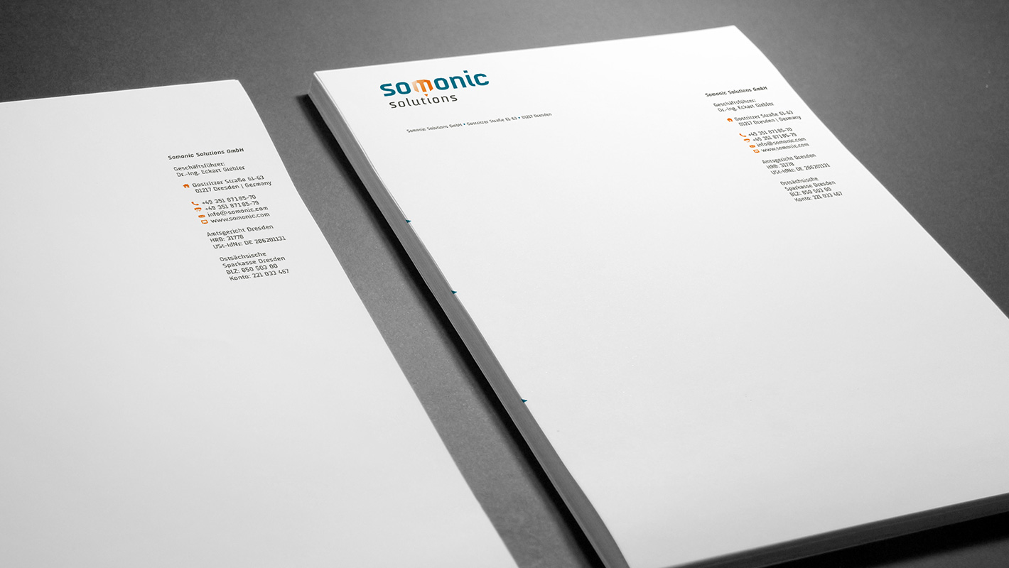 Somoinc Briefbogen Corporate Design