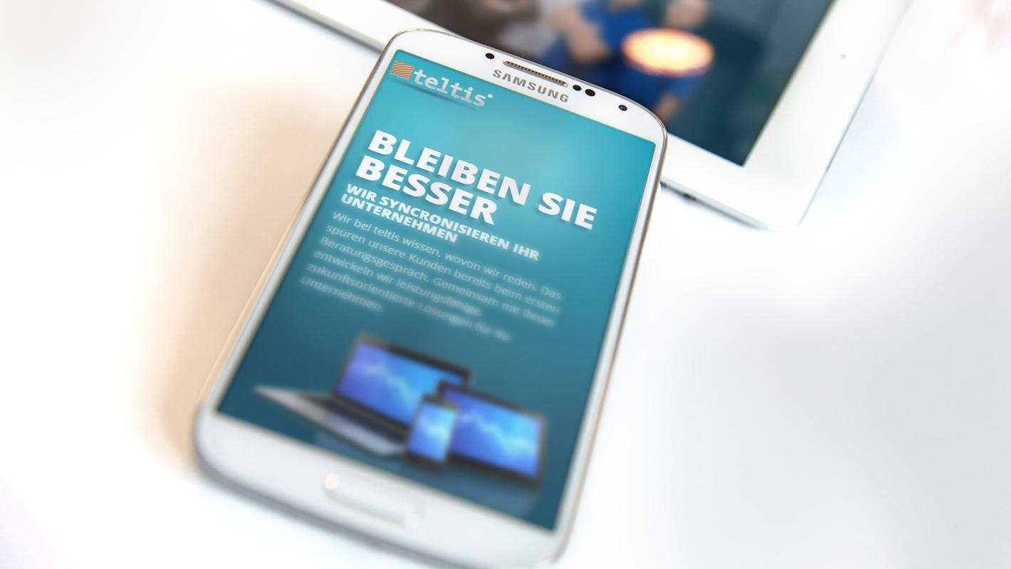 Teltis Responsive Website mobile