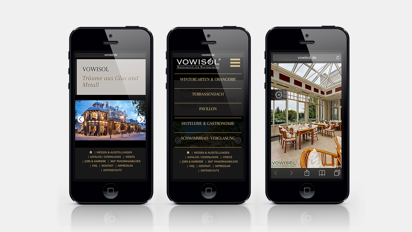 Mobile Website Vowisol