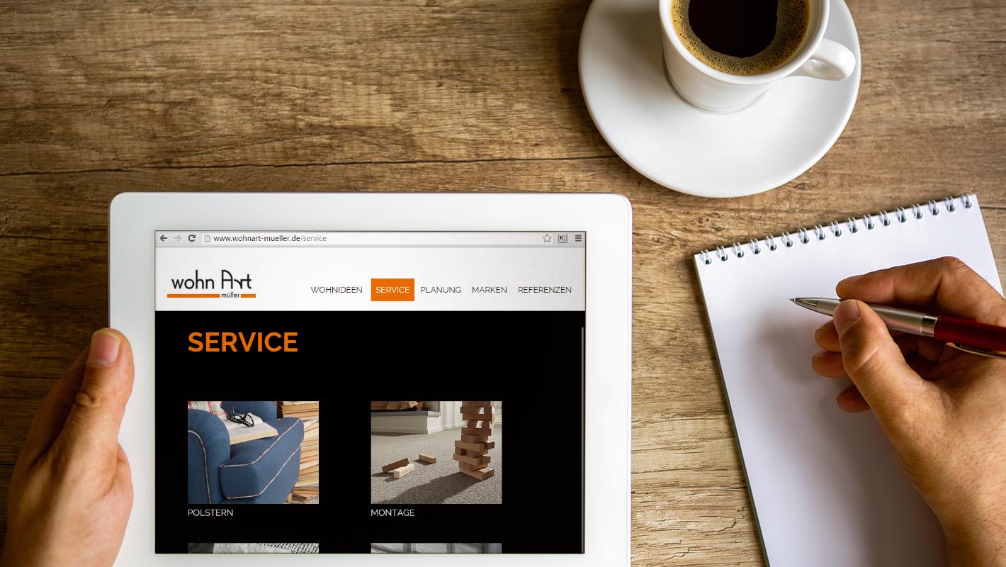 wohn Art müller website responsive service