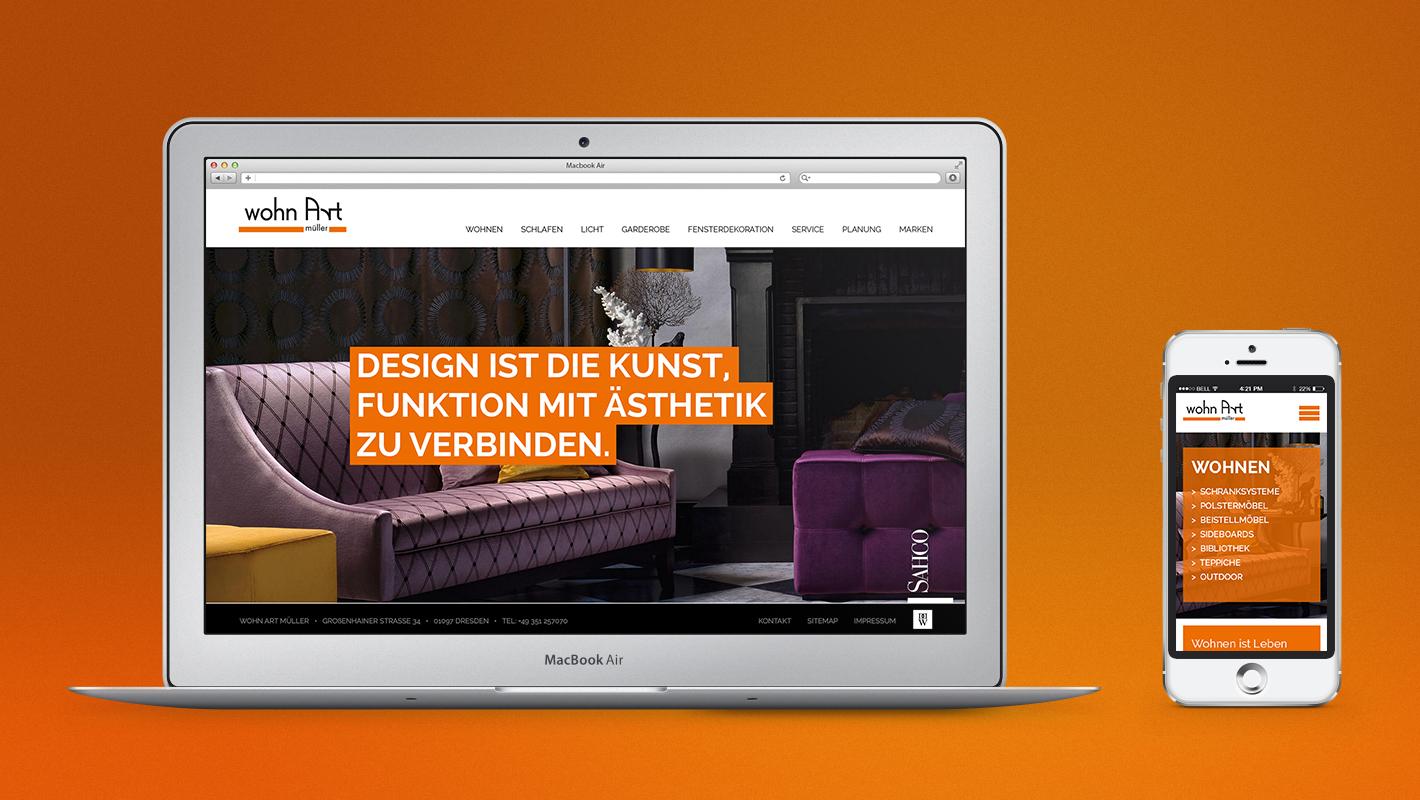 wohn Art müller website responsive startseite